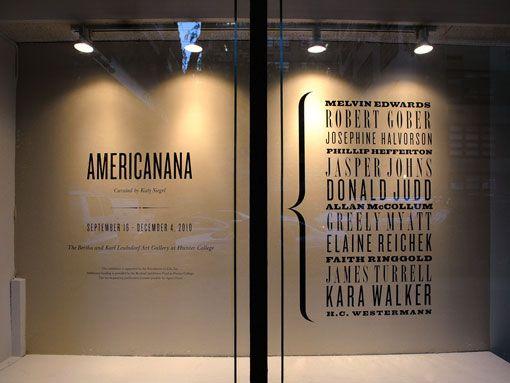 typographic window display.