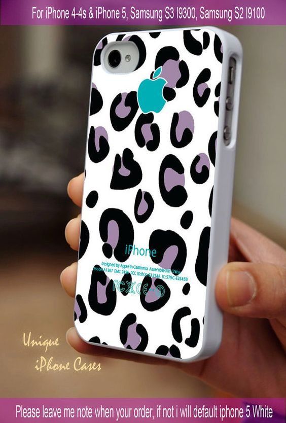 Purple leopard pattern - iPhone 4 / iPhone 4S / iPhone 5 / Samsung S2 / Samsung S3 / Samsung S4 Case Cover