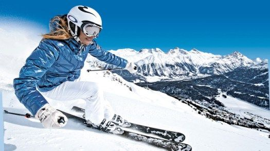 A Skier Comes Down The Slopes At St Moritz Photo Courtesy Switzerland Tourism