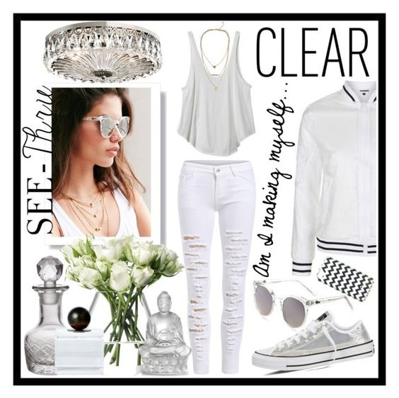 """""""Am I Making Myself...CLEAR?"""" by sailorjerri on Polyvore featuring Topshop, Quay, RVCA, Converse, Kate Spade, LSA International, Cultural Intrigue, Jan Barboglio, Lalique and Schonbek"""