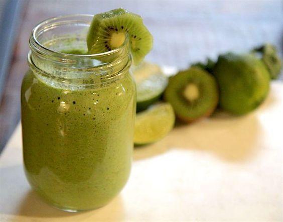 Kiwi Lime Green Smoothie - Vegan and Paleo!