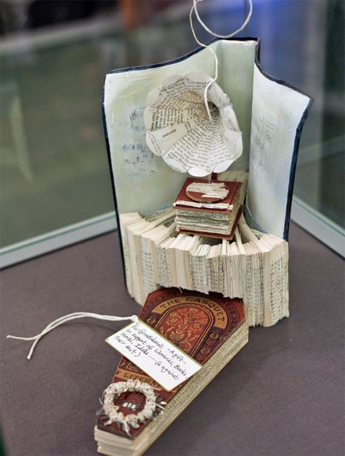 book art left at different libriaries...so amazing