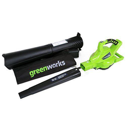 Greenworks 24312 Best Lithium Ion Cordless Leaf Vacuum Mulcher Blower Review Greenworks Blowers Best Garden Tools