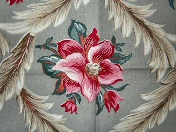 Gorgeous Vintage Cotton Chintz Fabric by VintageClothesNJunk