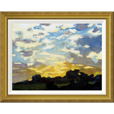 Global Gallery 'Golden Sunset' by Edward Henry Potthast Framed Painting Print Size: