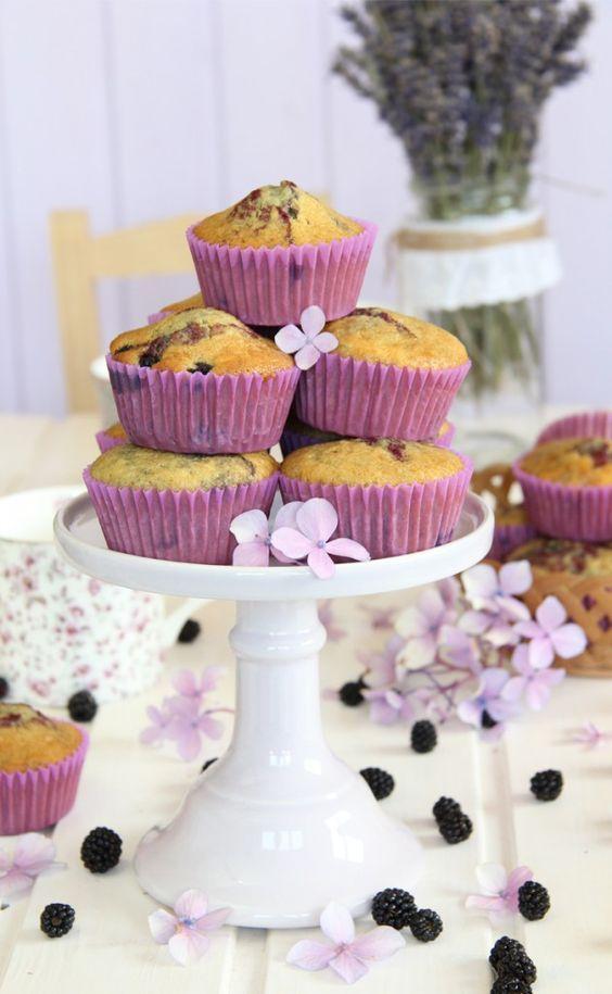 Receta muffins de mora