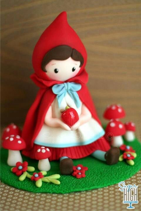 Red Riding Hood - Don't know what it's made out of, but it looks like it's some kind of sugar dough.