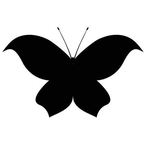 Pochoir papillon 9 gratuit imprimer pochoir et motifs - Papillon imprimer ...