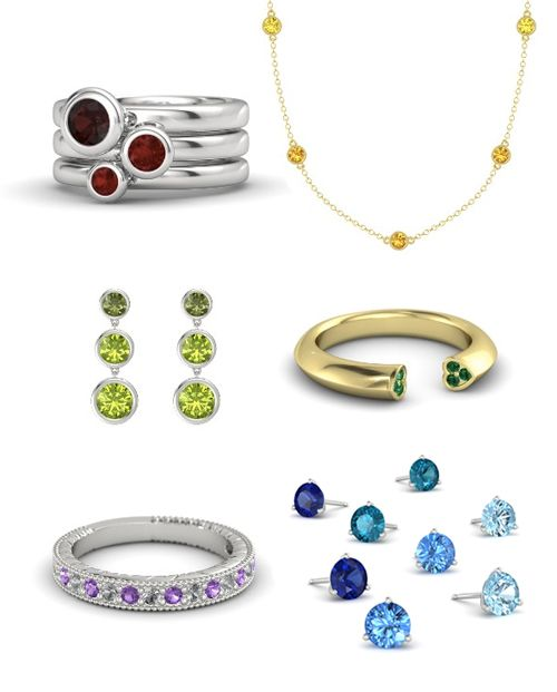 Gemvara Jewelry - choose any gem, or any precious metal for every piece they offer.