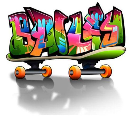 Bailey graffiti word skateboard style graffiti creator for 3d drawing online