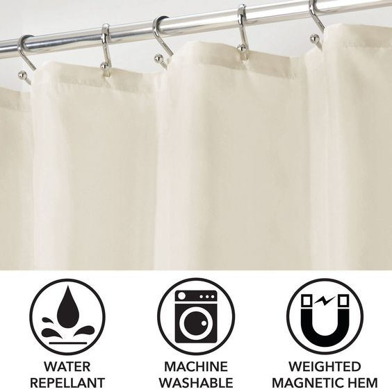 Water Repellent Fabric Shower Curtain Liner 72 X 96 In Desert Rose