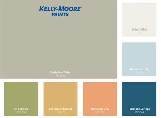 This Summer Palette Features 7 Of Sunset 39 S Favorite Colors Selected Exclusively From Kelly Moore