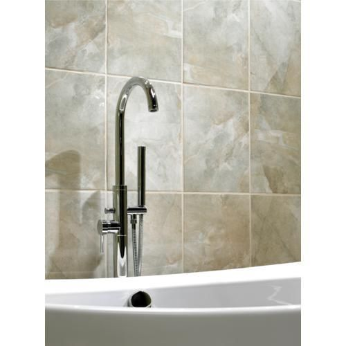 Bathroom Tiles Wickes : Bathroom wall tiles onyx stone effect wickes