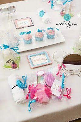 spa days for little girls' birthdays