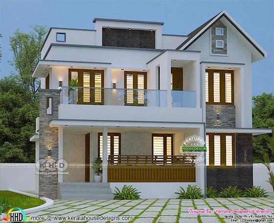 Trendy Kerala Home Design 2000 Sq Ft Kerala House Design Latest House Designs Bungalow House Design