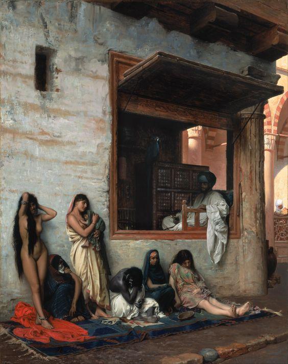 El mercado de esclavos, de Jean-Léon Gérôme