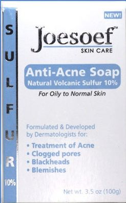 Acne Soap with Sulfur 10% Dermatologists Approved for Acne Skin, Body Acne, Clogged Pores, Blackheads, Pimples, Oily Skin and more. Price $9 www.Joesoefskincare.com