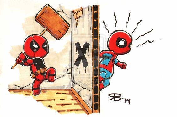 Chibi DeadPool Spiderman by RickBas on DeviantArt