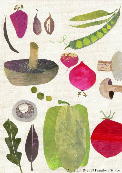 Linda Tordoff, veg, illustration, colour, food, mushroom, cooking, drawing, texture: