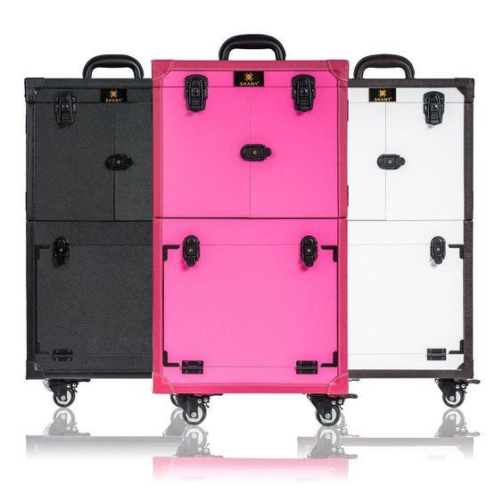 Makeup Trolley Train Case Makeup Artist Multifunction Cosmetic Storage Box Large   eBay