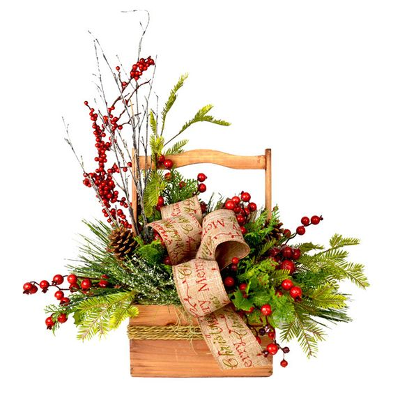 Festive holiday basket spreading warmth cheer on joss