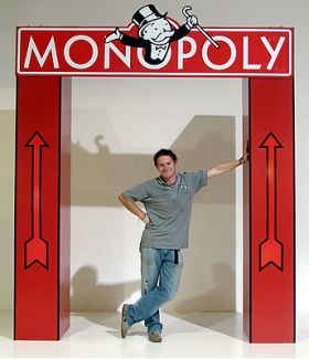 Monopoly Themed Props & Event Theming Party Hire: Monopoly Entranceway