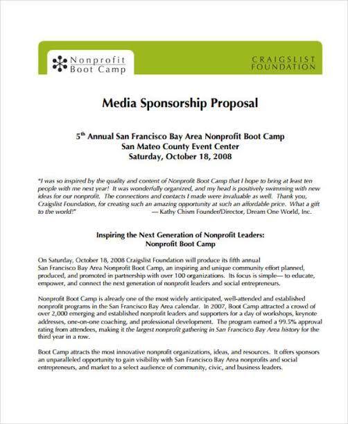 Image Result For Sponsorship Proposal Sponsorship Proposal Proposal Templates Event Sponsorship