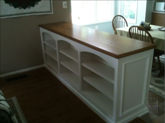 For pony-wall between breakfast nook and family room.