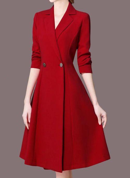 Daylin Mujer Algod/ón Lino Vestidos Oto/ño Invierno Moda Casual Bolsillos Dress Suelto Vestido a Rayas