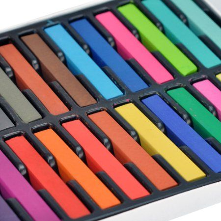 New Fashion 24 Colours Temporary Color Dye Hair DIY Nontoxic Hair Color Chalk Pastel