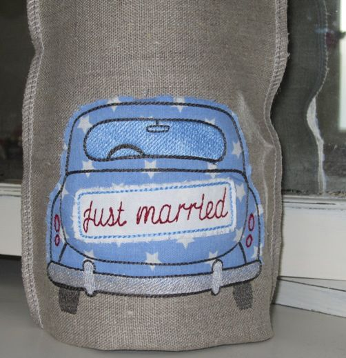 """Stickdatei """"just married"""""""