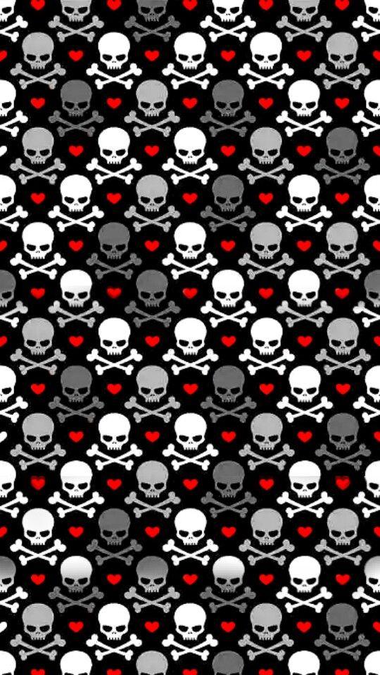 Wallpaper Skull Wallpaper Emo Wallpaper Cute Patterns Wallpaper