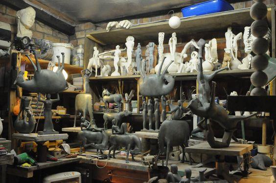 In the studio of Sculptor Eoghan Bridge