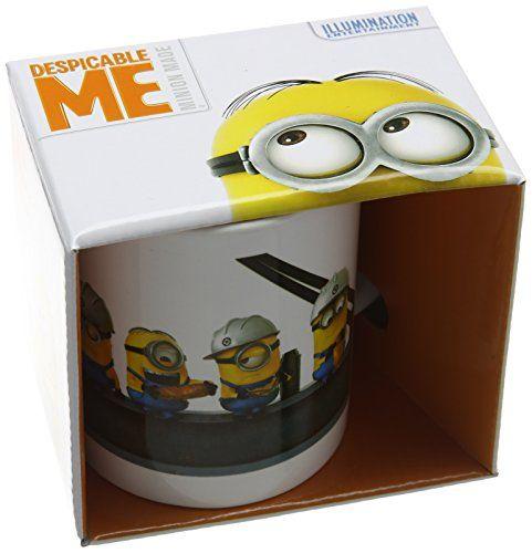 Kaffeetasse aus Keramik, Ich - einfach unverbesserlich 2, Stahlträger-Motiv - http://geschirrkaufen.online/despicable-me-3/kaffeetasse-aus-keramik-ich-einfach-2-motiv