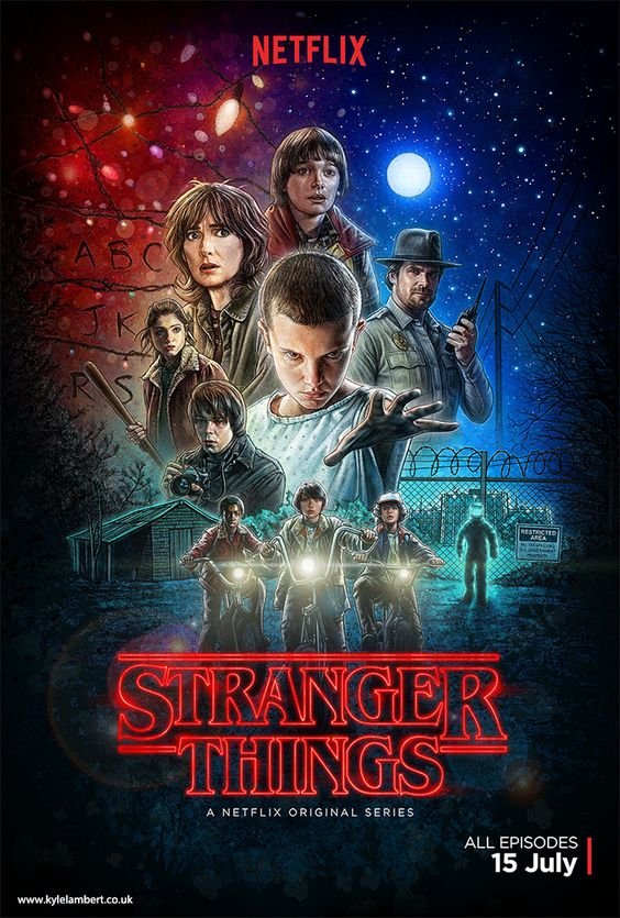 Netflix's Stranger Things poster art by Kyle Lambert