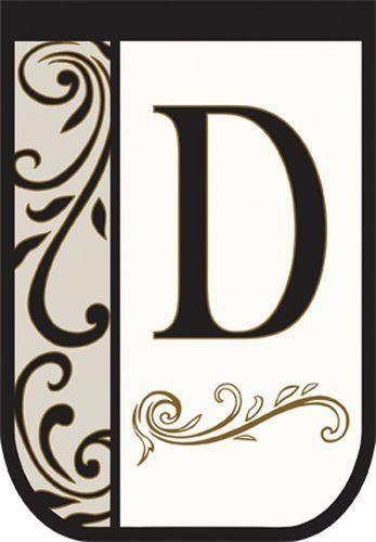 Monogram D Applique Decorative House Flag By Carson 11