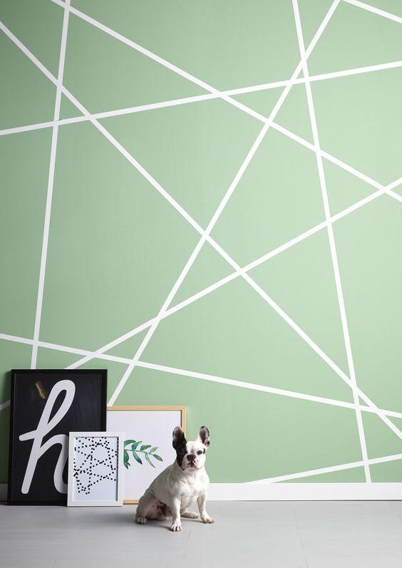 Driehoeken op de muur schilderen