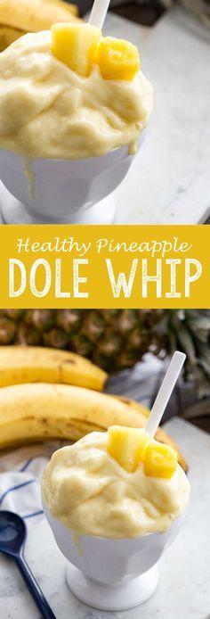 Healthy Pineapple Dole Whip - Eazy Peazy Mealz