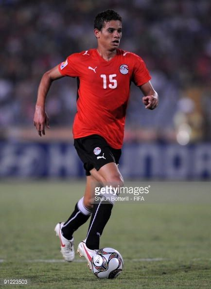 Saadelin Saad of Egypt in action during the FIFA U20 World Cup Group A match between Egypt and Paraguay at the Cairo International Stadium on...