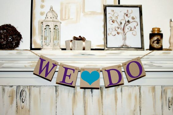 WE DO Bridal Shower Banner  Wedding Banner by BannerStyle on Etsy, $9.50