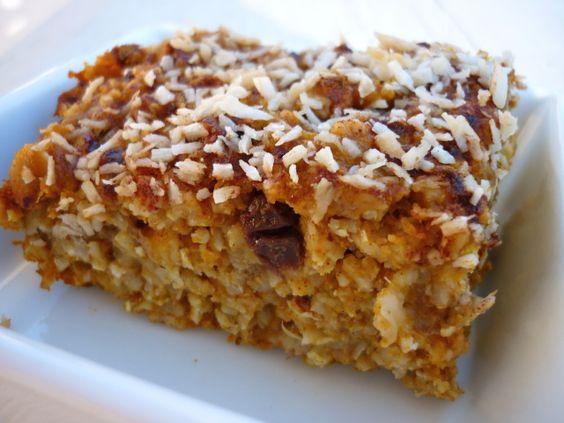 Pumpkin & Caramelized Banana Baked Oatmeal | Breakfast | Pinterest ...
