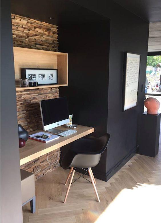 regardsetmaisons comment am nager un coin bureau dans son salon. Black Bedroom Furniture Sets. Home Design Ideas
