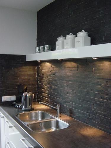 Gamma Keuken Wand : Keuken wand afwerken met steenstrips keuken Pinterest