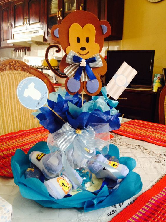 centro de mesa para fiesta de baby shower babyshower boy itsaboy