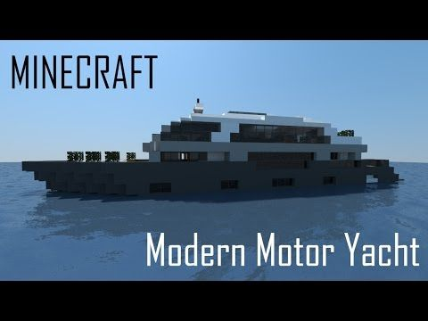 Minecraft Modern Motor Yacht Full Interior Download Youtube Minecraft Modern Minecraft Minecraft Structures