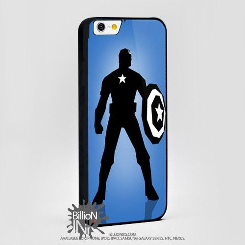 Captain America Avengers Cartoon Siluet For Apple, Iphone, Ipod, Samsung Galaxy Case