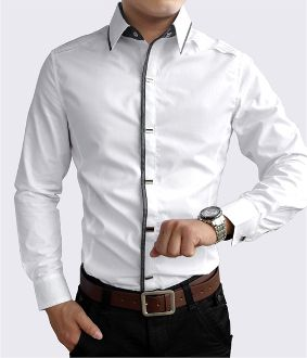 Men's Button Down Shirt with Shoulder Details | Pinterest for Men ...