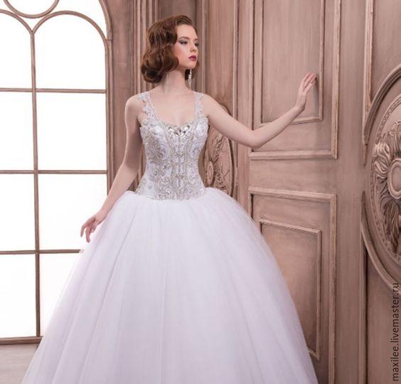 "Wedding Dress ""Royal shine"" - wedding dress, dress in vintage style"