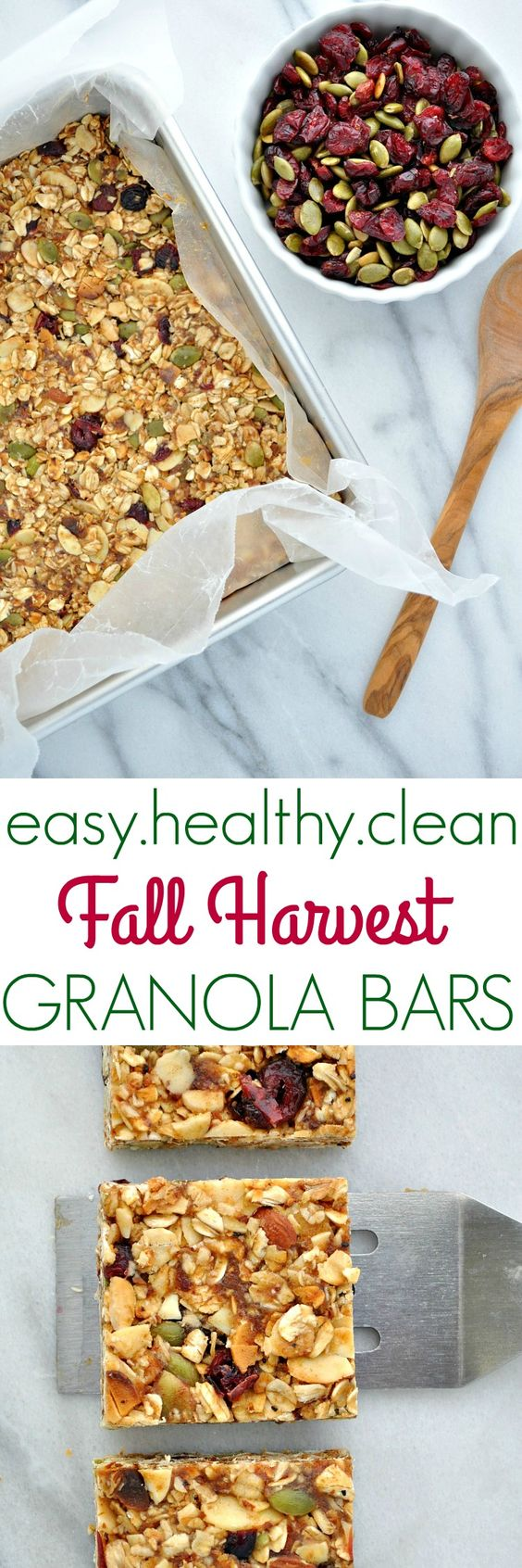 Chewy, sweet, salty, crunchy...these healthy, clean, and easy homemade granola bars have it all for a make ahead breakfast or snack that will curb your cravings and keep you energized!! | Healthy Snacks