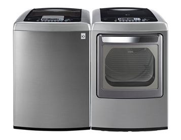 Check out this Top Load Stainless Steel Washer and Dryer pair by LG